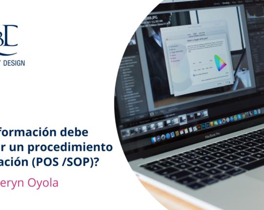 Información en un procedimiento de operación (POS /SOP)