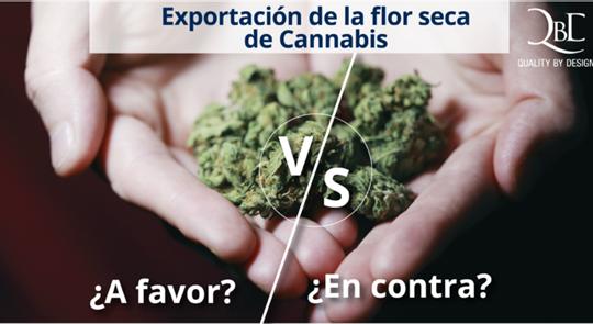 Exportación de flor seca de Cannabis