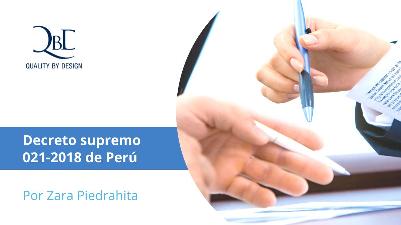 Decreto supremo 021-2018 de Perú
